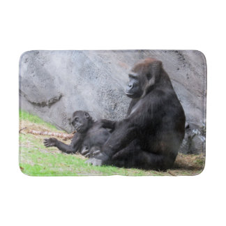 Mommy and Baby Gorilla (4715) Bath Mat