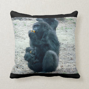 Gorilla Pillows Decorative Amp Throw Pillows Zazzle