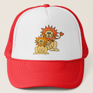 Mommy and baby Lion Trucker Hat
