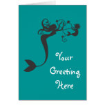 Mommy and baby Mermaids Card