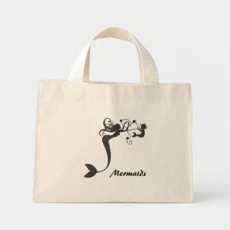 Mommy and baby Mermaids Mini Tote Bag