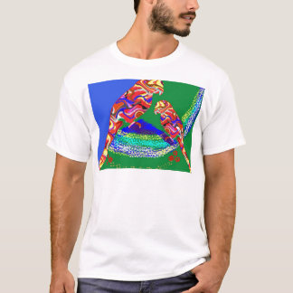 Mommy and baby Parrot - Birds of paradise T-Shirt