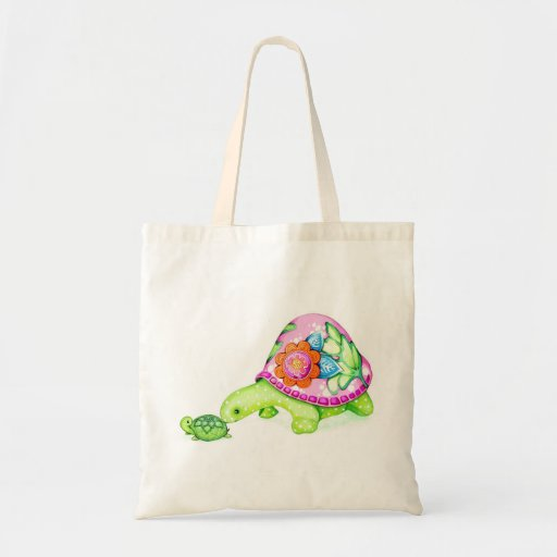 Mommy and Baby Turtle Tote Bag