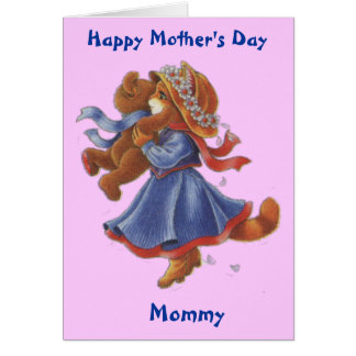 Mommy And Child Teddy Mother's Day Card