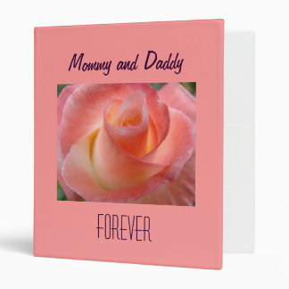 Mommy and Daddy Forever photo binder Pink Rose