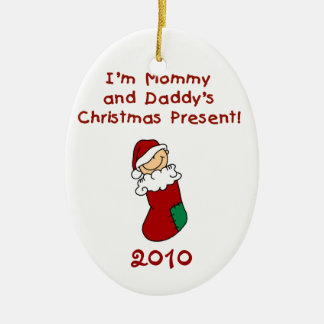 Mommy and Daddy's Christmas Present Ornament