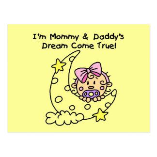 Mommy and Daddy's Dream Tshirts and Gifts Postcard