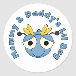 Mommy and Daddy's Lil Bug Classic Round Sticker