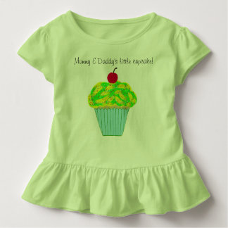 Mommy and Daddy's Little Cupcake Green Yellow Toddler T-shirt