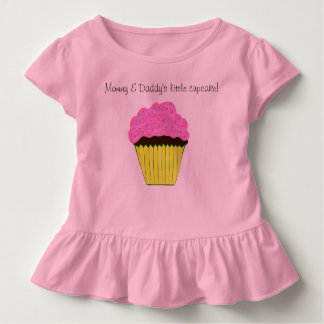 Mommy and Daddy's Little Cupcake Pink Cupcake Toddler T-shirt