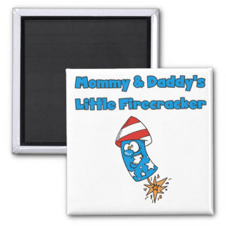Mommy and Daddy's Little Firecracker T-shirts Magnets