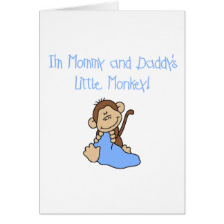 Mommy and Daddy's Monkey -Blue Tshirts and Gifts Card