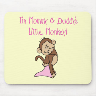 Mommy and Daddy's Monkey - Pink Tshirts and Gifts Mouse Pad