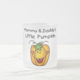 Mommy and Daddy's Pumpkin Tshirts and Gifts 10 Oz Frosted Glass Coffee Mug