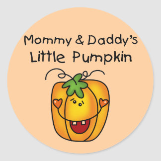 Mommy and Daddy's Pumpkin Tshirts and Gifts Classic Round Sticker