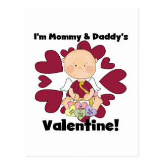 Mommy and Daddy's Valentine- Boy Cupid Postcard