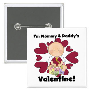 Mommy and Daddy's Valentine Boy Tshirts Buttons