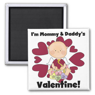 Mommy and Daddy's Valentine Boy Tshirts Magnets