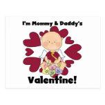 Mommy and Daddy's Valentine Boy Tshirts Postcards