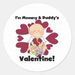 Mommy and Daddy's Valentine Boy Tshirts Stickers