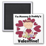 Mommy and Daddy's Valentine - Girl Cupid Fridge Magnet