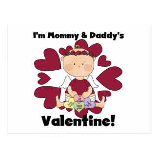 Mommy and Daddy's Valentine - Girl Cupid Postcard