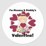 Mommy and Daddy's Valentine - Girl Cupid Stickers