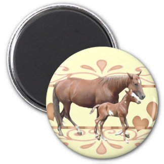Mommy And Foal Fridge Magnet