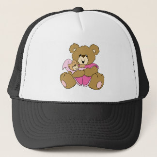 Mommy and Girl Bear Trucker Hat