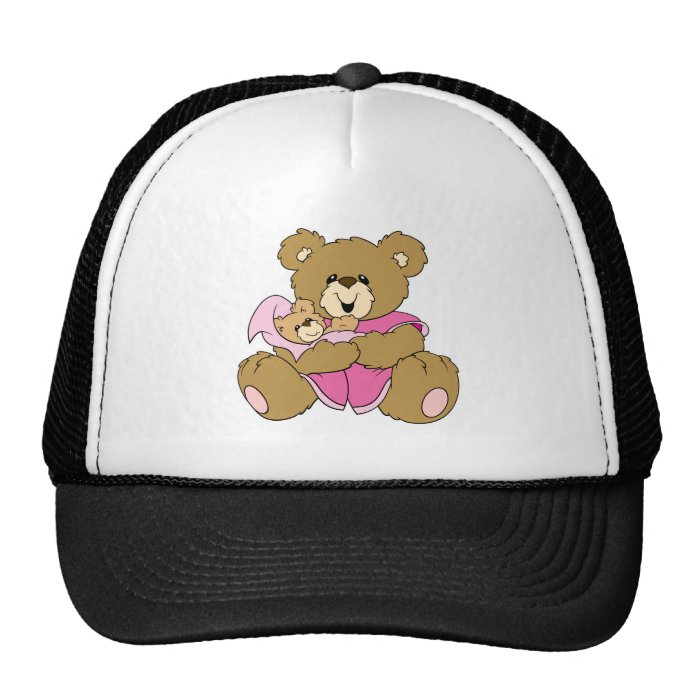 Mommy and Girl Bear Trucker Hat