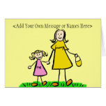 Mommy and Me Blond Note Card (Customize Message)