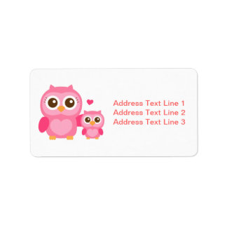 Mommy and Me, Cute Baby Owl, Pink Label