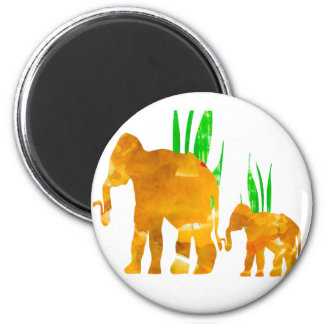 Mommy and Me Elephant 2 Inch Round Magnet