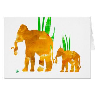 Mommy and Me Elephant Greeting Card