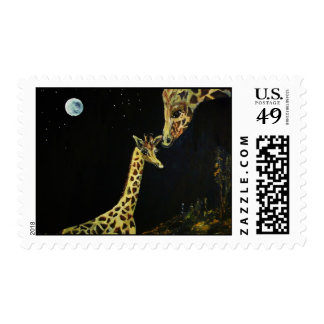 Mommy and Me GIRAFFE ART- painting POSTAGESTAMPS Postage