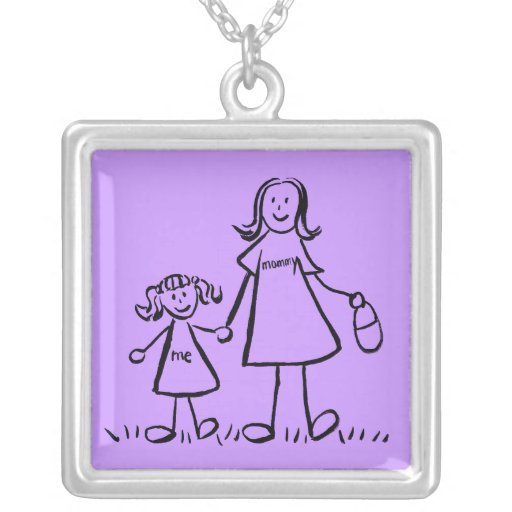 Mommy and Me Necklace Charm