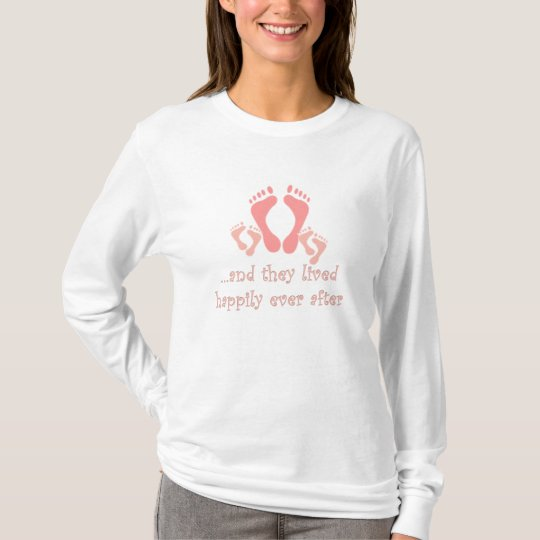 Mommy and Two Baby's Feet T-Shirt