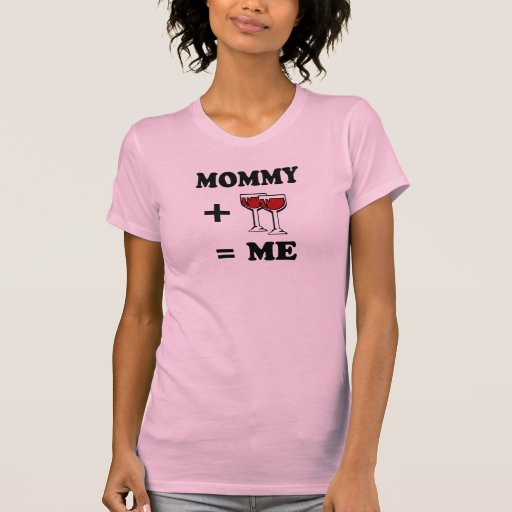 Mommy and wine equals me baby t-shirt