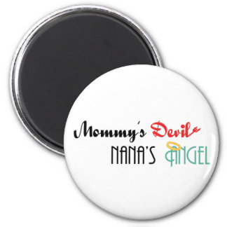 Mommy apos diablo de s Nana apos ángel de s Imanes De Nevera