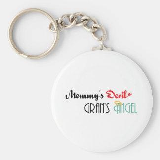 Mommy's Devil, Gran's Angel Basic Round Button Keychain