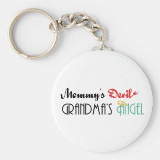 Mommy's Devil, Grandma's Angel Keychain