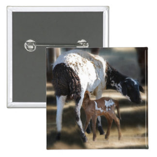 Mommy & Baby Goat Pinback Button