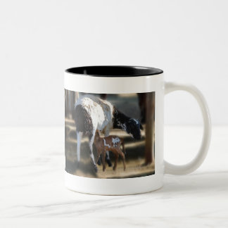 Mommy & Baby Goat Two-Tone Coffee Mug