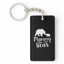 Mommy Bear Mothers Day Mom Gift Keychain