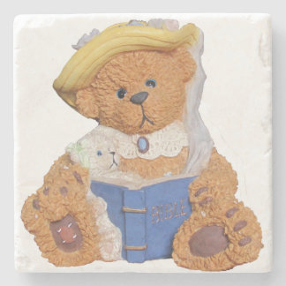 Mommy Bear Reads To Baby Stone Coaster