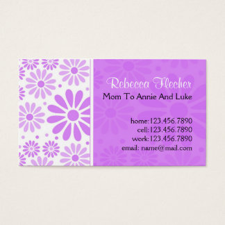 Mommy  Business Cards - Lavender Flowers