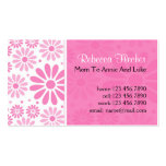 Mommy  Business Cards - Pink Flowers