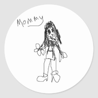 Mommy by Comet Classic Round Sticker