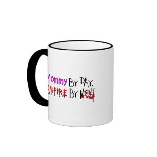 Mommy by day, Vampire by night Ringer Coffee Mug