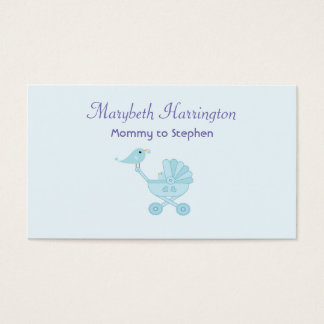 Mommy Calling Card Baby Blue Birds
